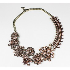 Crystal Geo Bouquet Collar Necklace