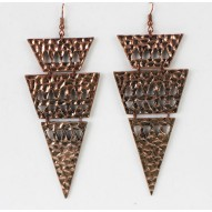 Triangle Drop Earrings Copper