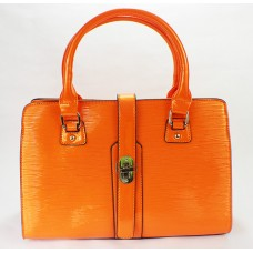 Orange Structure Handbag