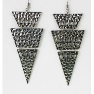 Triangle Drop Earrings Pewter