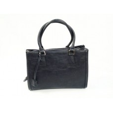Navy Structured Handbag