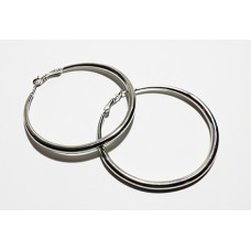 Silver Hoops Earings