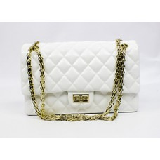 White Quilted  Clutch Handbag
